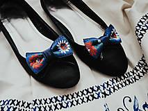 Obuv - Folklórne klipy na topánky (kráľovsky modré) - 10904066_