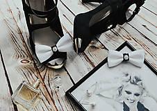 Obuv - Svadobné klipy na topánky Coco Chanel - 10904075_