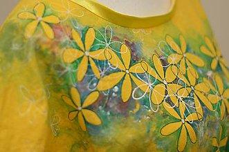 Šaty - NERA - bavlnené šaty s maľbou kvetov. - 10903893_
