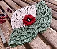 Detské čiapky - Makový ľanový klobúčik - 10906001_