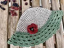 Detské čiapky - Makový ľanový klobúčik - 10906002_