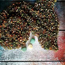Šály - Hvězdy na mechu | pletený šál / pléd - 10903898_