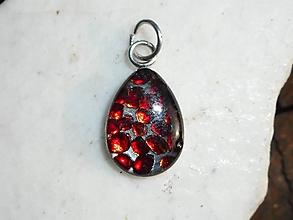 Náhrdelníky - red garnet--pyrop-český granát - 10906204_