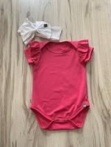 Detské oblečenie - Body 68 cyklamemové s volánikmi - 10904719_