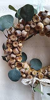 Dekorácie - Veniec na dvere... makovice - 10904491_