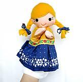 Hračky - Maňuška folk dievčinka - na objednávku - 10905195_