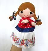 Hračky - Maňuška folk dievčinka - na objednávku - 10905199_