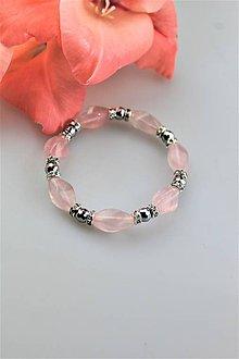 Náramky - hematit a ruženín náramok - 10905305_