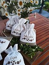 Úžitkový textil - Ľanové vrecúška na bylinky, huby, sušené ovocie......  - 10905449_
