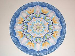 Obrazy - Mandala - modrá - 10903845_