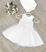Detské šaty s tylovou sukňou
