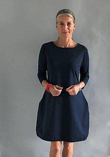 Šaty - Šaty...tm. modré ( lze i černé ) - 10903964_
