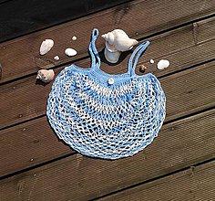 Nákupné tašky - Háčkovaná síťovka - námořnická - 10906085_
