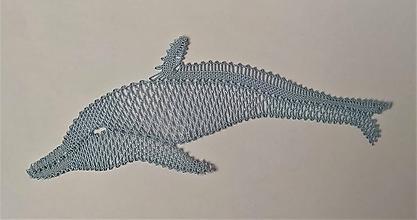 Dekorácie - Paličkovaný delfín - 10904329_