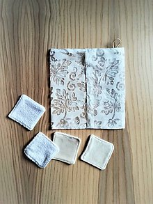 Úžitkový textil - Súprava kozmetických tampónov so sieťkou na pranie - 10905735_