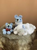 Hračky - baby SET 3ks  - zvieratká  v modrom - 10904267_