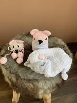 Hračky - baby SET 3ks  - zvieratká  v ružovom - 10904278_
