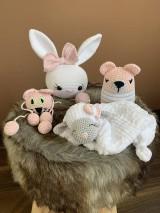 Hračky - baby SET 4ks  - zvieratká  v ružovom - 10904309_