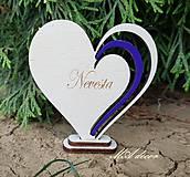 Darčeky pre svadobčanov - Menovka na podstavčeku 2 - 10904532_