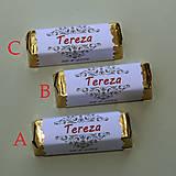 Darčeky pre svadobčanov - Čokoládové menovky, darček na redový tanec - 10905297_
