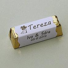 Darčeky pre svadobčanov - Čokoládové menovky, darček na redový tanec - 10905290_