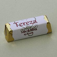 Darčeky pre svadobčanov - Čokoládové menovky, darček na redový tanec - 10905531_