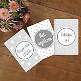 Detské doplnky - Milníkové kartičky pre dvojičky 36 ks (A5) - 10905267_