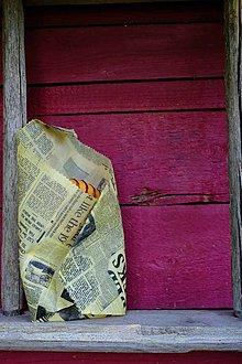 Úžitkový textil - Voskovaný obrúsok Voskáč 33x33cm (v novinách) - 10905503_
