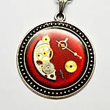 Náhrdelníky - Romance v červenom - 10904744_