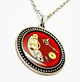 Náhrdelníky - Romance v červenom - 10904745_