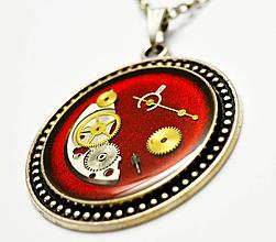 Náhrdelníky - Romance v červenom - 10904743_