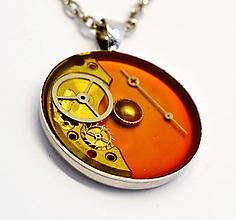 Náhrdelníky - Oranžový náhrdelník - 10905153_