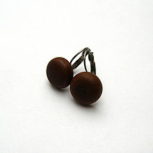 Náušnice - Drevené náušnice visiace - vypuklé krúžky z topoľovej kôry - 10905424_