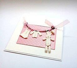 Papiernictvo - Pohľadnica ... A je to dievčatko - 10907776_