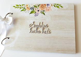 Papiernictvo - svadobná kniha hostí - 10907037_