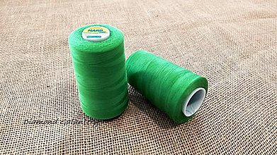 Galantéria - Polyesterová niť Hard - 5000 (Zelená) - 10908327_