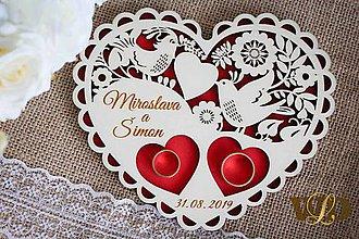 Prstene - Tanierik na obrúčky - 10906983_