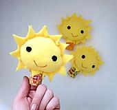 Hračky - Prstová maňuška slniečko - na výber - 10907557_