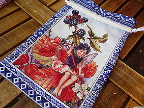 Úžitkový textil - Vrecúško - ostružinová víla - 10907946_