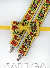 Folklórny detský žltý motýlik a traky - folkový - ľudový