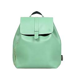 Batohy - Kožený batoh zelenkavý - 10908408_