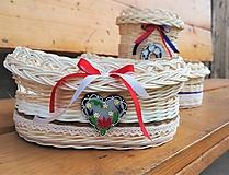 Košíky - Košík s farebným srdiečkom - 10907438_