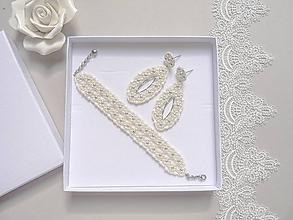 Sady šperkov - Svadobný perličkový set - 10907527_