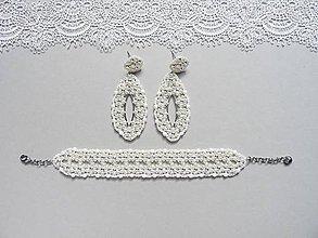 Sady šperkov - Svadobný perličkový set - 10907555_