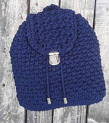 Batohy - Háčkovaný ruksak - granát - 10907726_