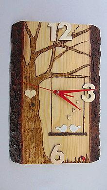Hodiny - Drevené hodiny SVADOBNÉ - 10906571_
