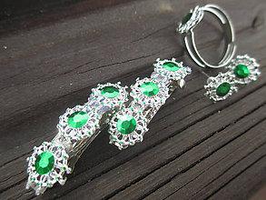 Sady šperkov - zelený sen - 10906738_