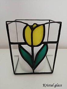 Svietidlá a sviečky - Svietnik - tulipán - 10907146_
