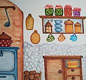 Obrazy - U babičky v kuchyni / Originál ilustrácia - 10908237_