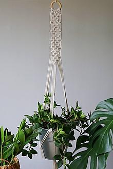 Dekorácie - Macrame držiak na kvetináč // Medovka - 10907633_